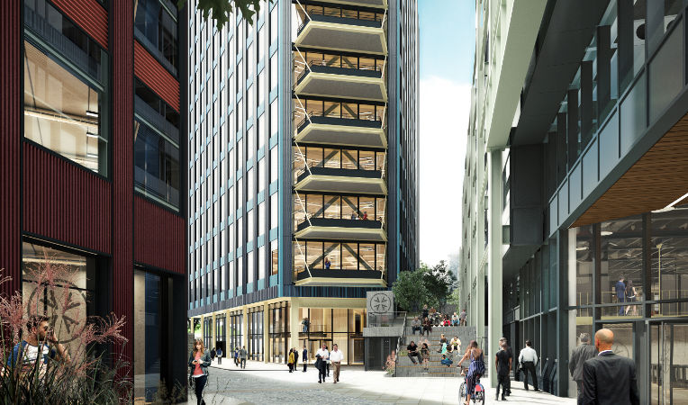 Building C is the second and tallest of three units to be built of a phased construction programme