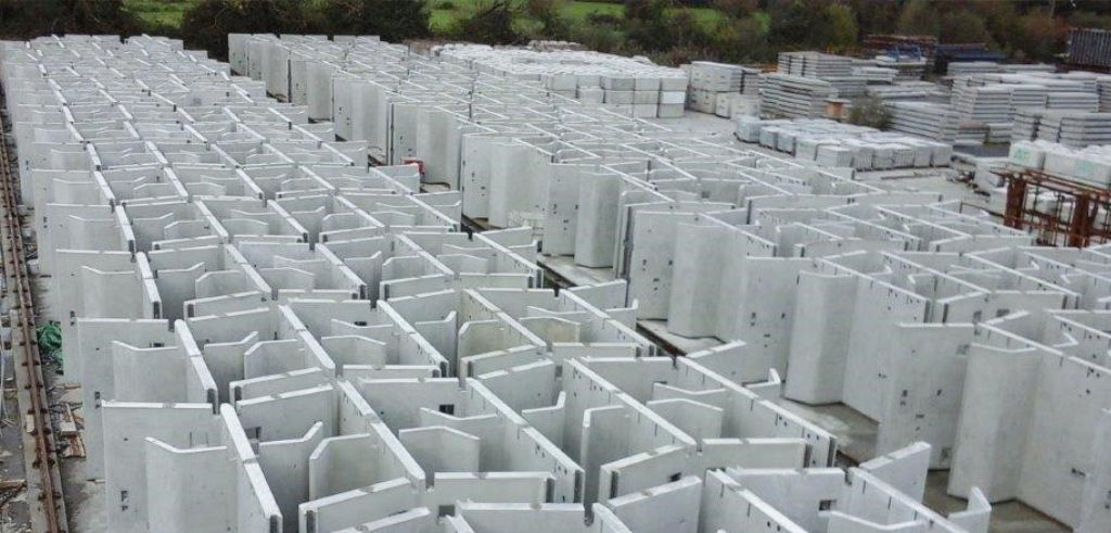 More than 13,000 precast concrete components are being manufactured in just 10 months