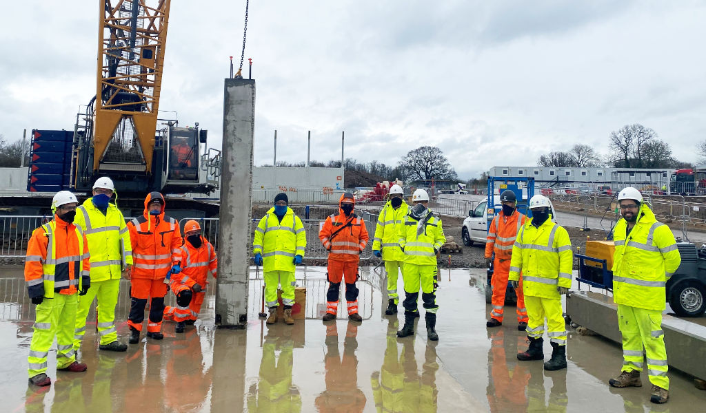 PCEs team will deliver 9 buildings in a 40 week programme