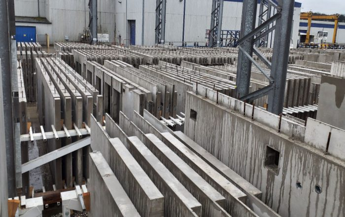 The precast concrete elements are being supplied by no fewer than 7 factories