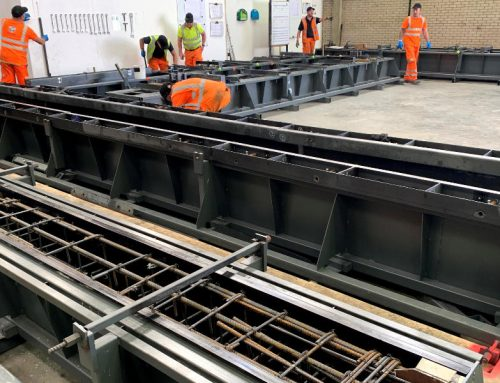 Sustainability and innovation benefits provided by mobile precast facilities