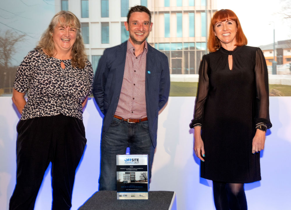 """PCEs Research building wins """"Best use of concrete technology"""" at Offsite Awards"""