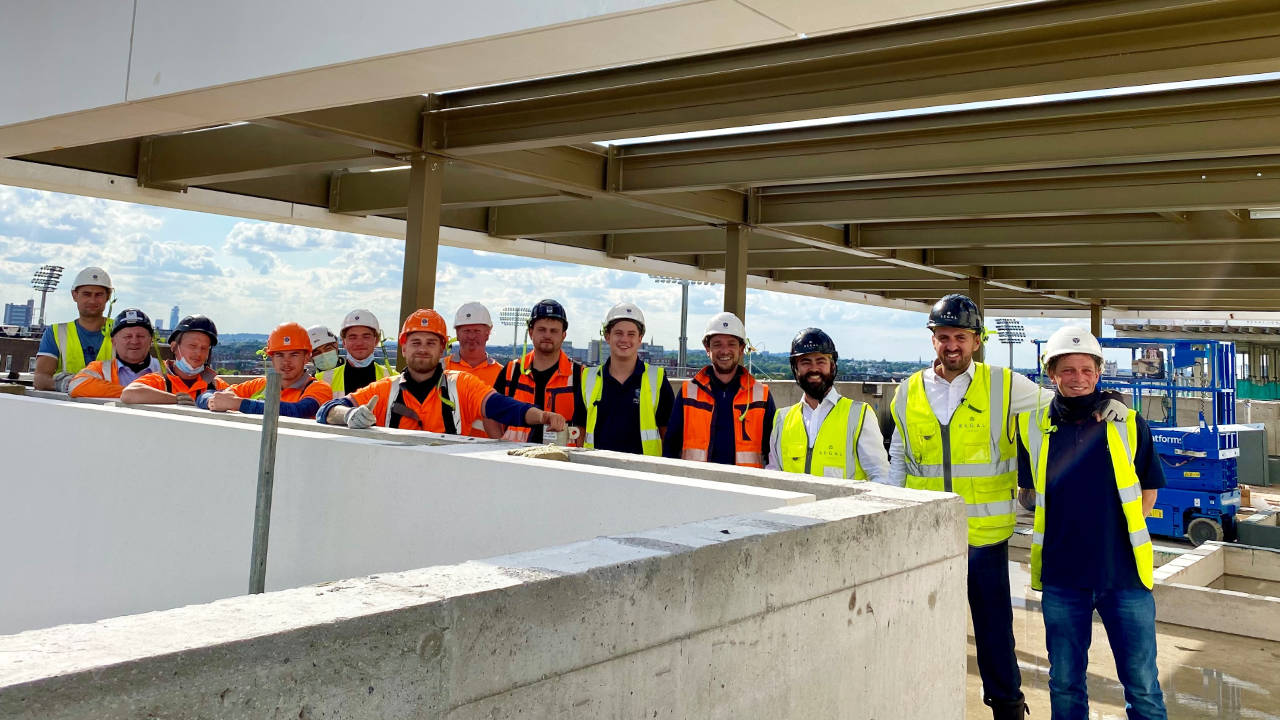 PCE's specialist site installation team at Lodge Road